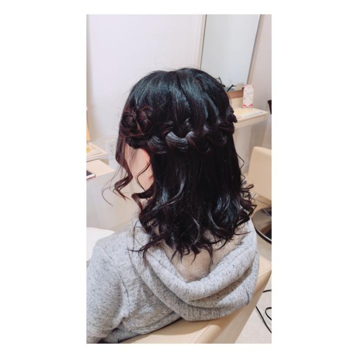 編込みヘアセット♪