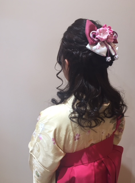 ☆袴 編み込みハーフアップ☆
